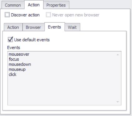 Agent Commands > Action Commands > Action Configuration > Events